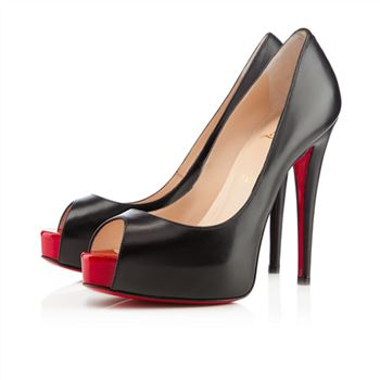 Christian Louboutin Vendome 120mm Peep Toe Pumps Black/Red