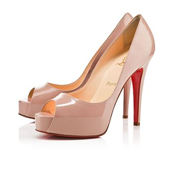 Christian Louboutin Hyper Prive 120mm Peep Toe Pumps Nude