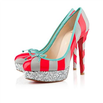 Christian Louboutin Foraine 140mm Platforms Rose Paris/Light Grey