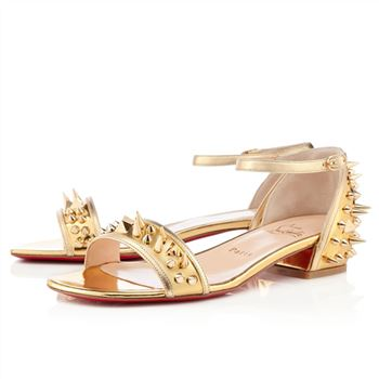 Christian Louboutin Druide Flat Sandals Gold