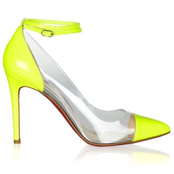 Christian Louboutin Bis Un Bout 100mm Pumps Yellow