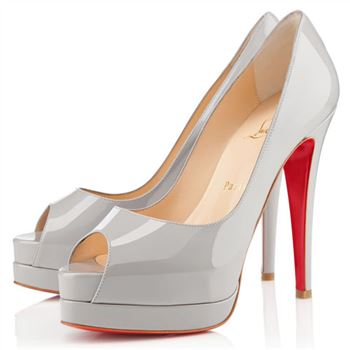 Christian Louboutin Altadama 140mm Peep Toe Pumps Souris