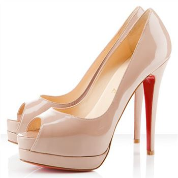 Christian Louboutin Altadama 140mm Peep Toe Pumps Nude