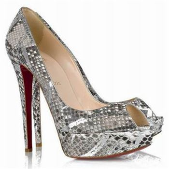 Christian Louboutin Banana 140mm Peep Toe Pumps Multicolor