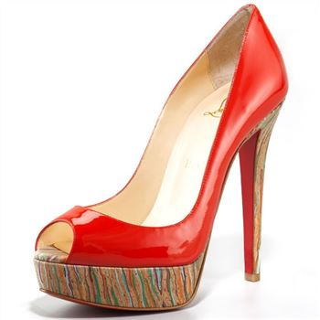 Christian Louboutin Banana 140mm Peep Toe Pumps Red