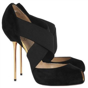 Christian Louboutin Big Dorcet 120mm Peep Toe Pumps Black