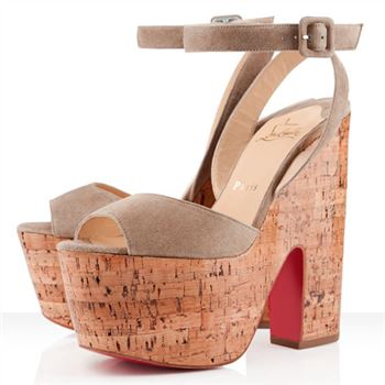 Christian Louboutin Super Dombasle 140mm Wedges Taupe