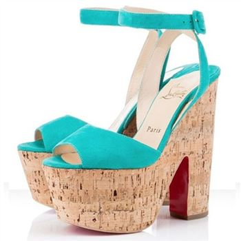 Christian Louboutin Super Dombasle 140mm Wedges Caraibes