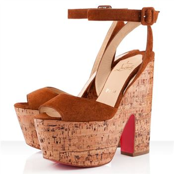Christian Louboutin Super Dombasle 140mm Wedges Fauve