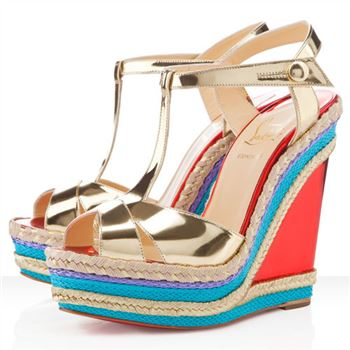 Christian Louboutin Trotolita 140mm Wedges Platine