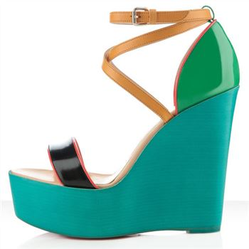 Christian Louboutin Si Ma Zeppa 140mm Wedges Multicolor