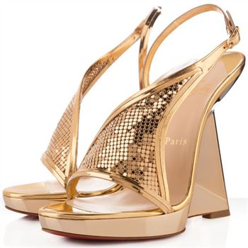 Christian Louboutin Roxy Muse 120mm Wedges Gold