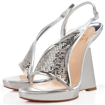 Christian Louboutin Roxy Muse 120mm Wedges Silver
