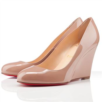 Christian Louboutin Ron Ron Zeppa 80mm Wedges Nude