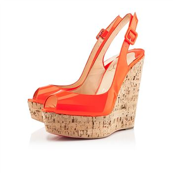 Christian Louboutin Une plume 140mm Wedges Flame