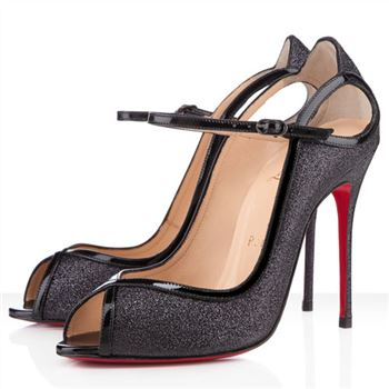 Christian Louboutin 1en8 100mm Peep Toe Pumps Black