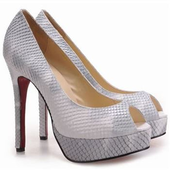 Christian Louboutin Altadama 140mm Peep Toe Pumps Python