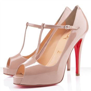 Christian Louboutin Burlina 120mm Peep Toe Pumps Nude
