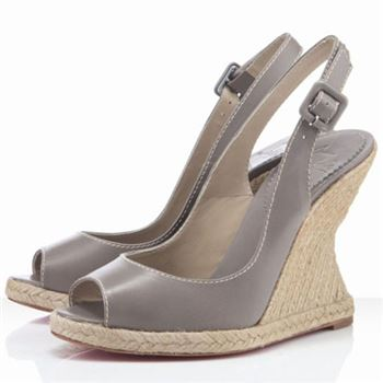 Christian Louboutin You Love 120mm Wedges Taupe