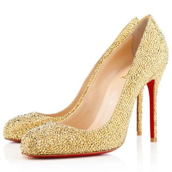 Christian Louboutin Fifi Strass 100mm Pumps Yellow