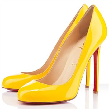 Christian Louboutin Lady Lynch 120mm Pumps Yellow