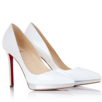 Christian Louboutin Pigalle Plato 120mm Pumps White