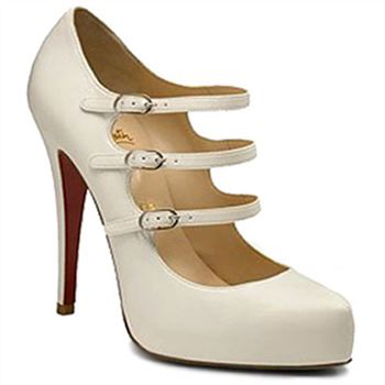 Christian Louboutin Dillian 120mm Mary Jane Pumps White