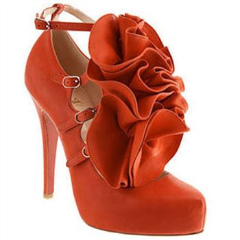 Christian Louboutin Dillian 120mm Mary Jane Pumps Orange
