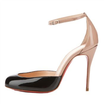 Christian Louboutin Tres Decollete 100mm Pumps Black/Nude