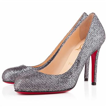 Christian Louboutin Simple 100mm Pumps Silver