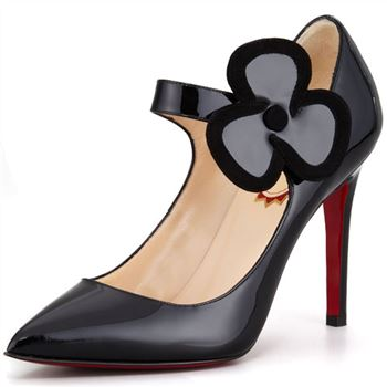 Christian Louboutin Pensee 100mm Mary Jane Pumps Black