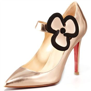 Christian Louboutin Pensee 100mm Mary Jane Pumps Nude