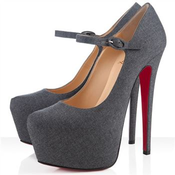 Christian Louboutin Lady Daf 160mm Mary Jane Pumps Light Grey