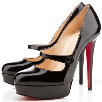 Christian Louboutin Relika 140mm Mary Jane Pumps Black