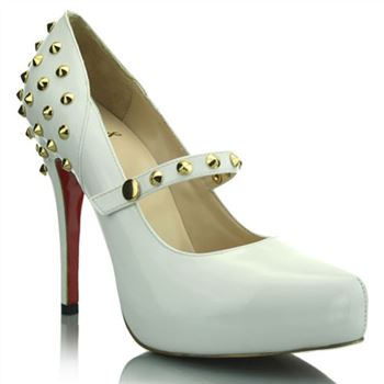 Christian Louboutin Mad 120mm Mary Jane Pumps White