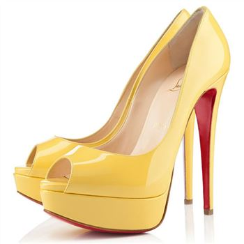 Christian Louboutin Lady 140mm Peep Toe Pumps Canari