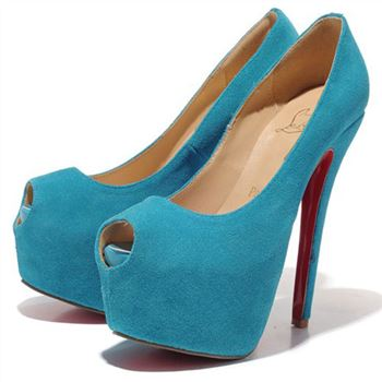 Christian Louboutin Highness 160mm Peep Toe Pumps Caraibes