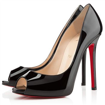 Christian Louboutin Flo 120mm Peep Toe Pumps Black