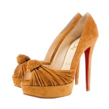 Christian Louboutin Greissimo 140mm Peep Toe Pumps Yellow