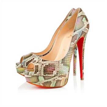 Christian Louboutin Lady 140mm Peep Toe Pumps Multicolor