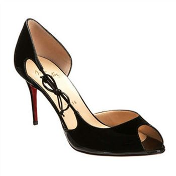 Christian Louboutin Delico 100mm Peep Toe Pumps Black
