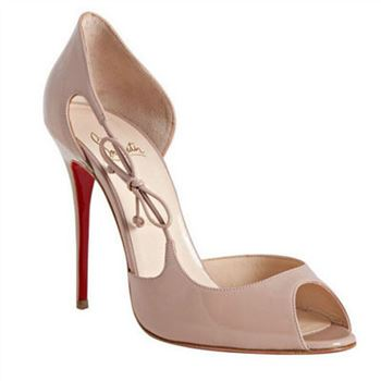 Christian Louboutin Delico 100mm Peep Toe Pumps Nude