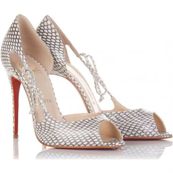 Christian Louboutin Delico 100mm Peep Toe Pumps Multicolor