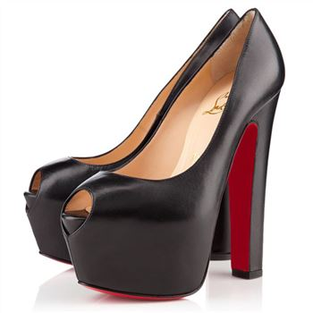 Christian Louboutin Shameless 160mm Peep Toe Pumps Black