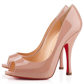 Christian Louboutin Maryl 120mm Peep Toe Pumps Nude