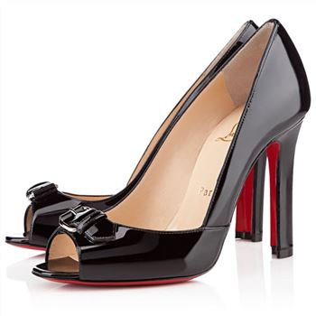 Christian Louboutin Openbelt 100mm Peep Toe Pumps Black