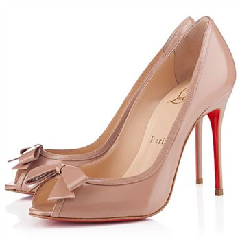 Christian Louboutin Milady 100mm Peep Toe Pumps Nude