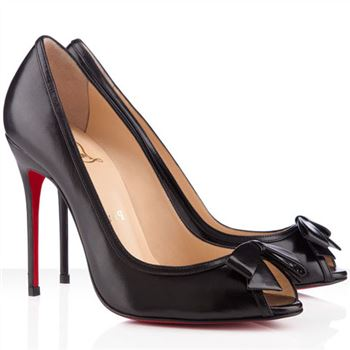Christian Louboutin Milady 100mm Peep Toe Pumps Black