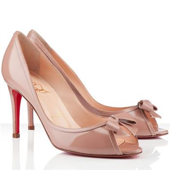 Christian Louboutin Milady 80mm Peep Toe Pumps Nude