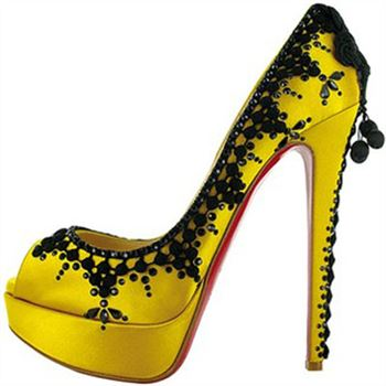 Christian Louboutin Torero 140mm Peep Toe Pumps Lemon